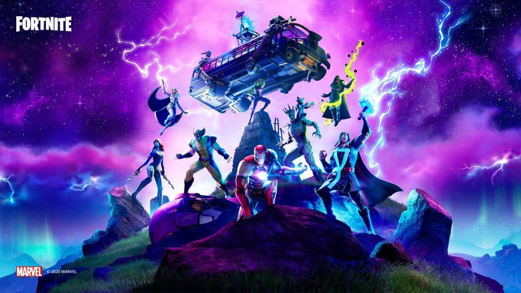 Fortnite Season 4 crossover with Marvel