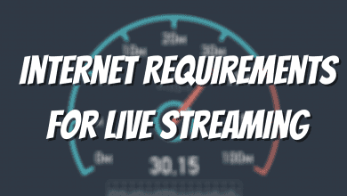 Internet Requirements for Live Streaming