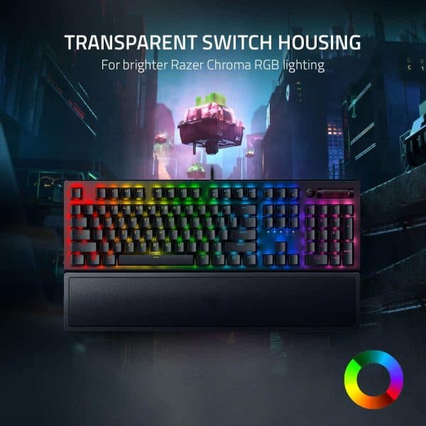 Razer BlackWidow V3 Mechanical Gaming Keyboard: Green Mechanical Switches - Tactile & Clicky - Chroma RGB Lighting - Compact Form Factor - Programmable Macro Functionality, Classic Black